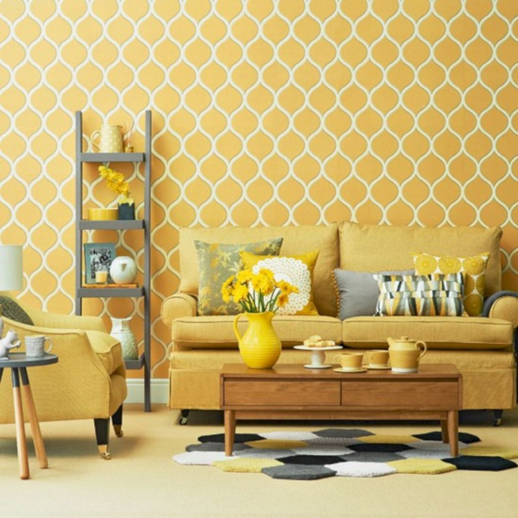 8+ Awesome Yellow Living Room Color Schemes That People Never ..