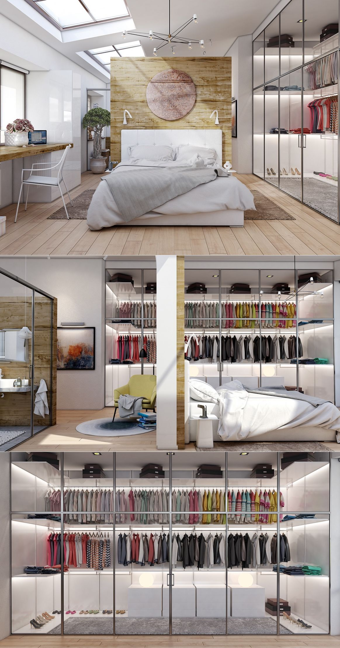 8 Beautiful Examples Of Bedrooms With Attached Wardrobes - house inspiration wardrobe