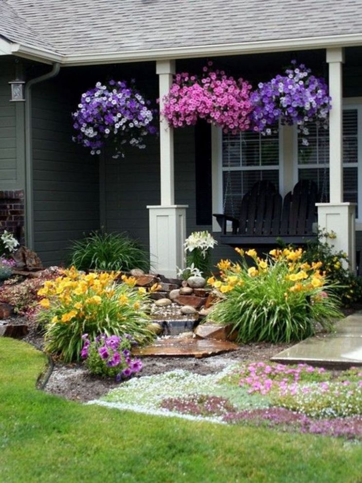 8+ Beautiful Flower Garden Design Ideas For Your Home Front Yard ..