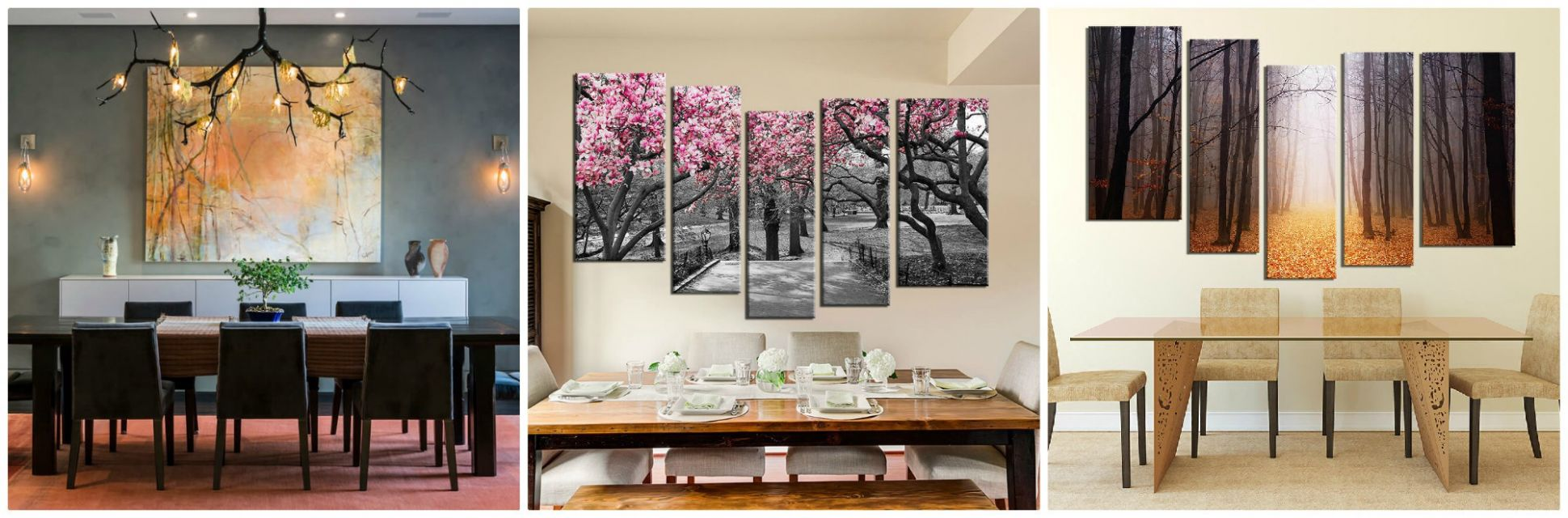 8 Beautiful Tree Wall Art Ideas To Decor Dining Room Interior - dining room artwork ideas