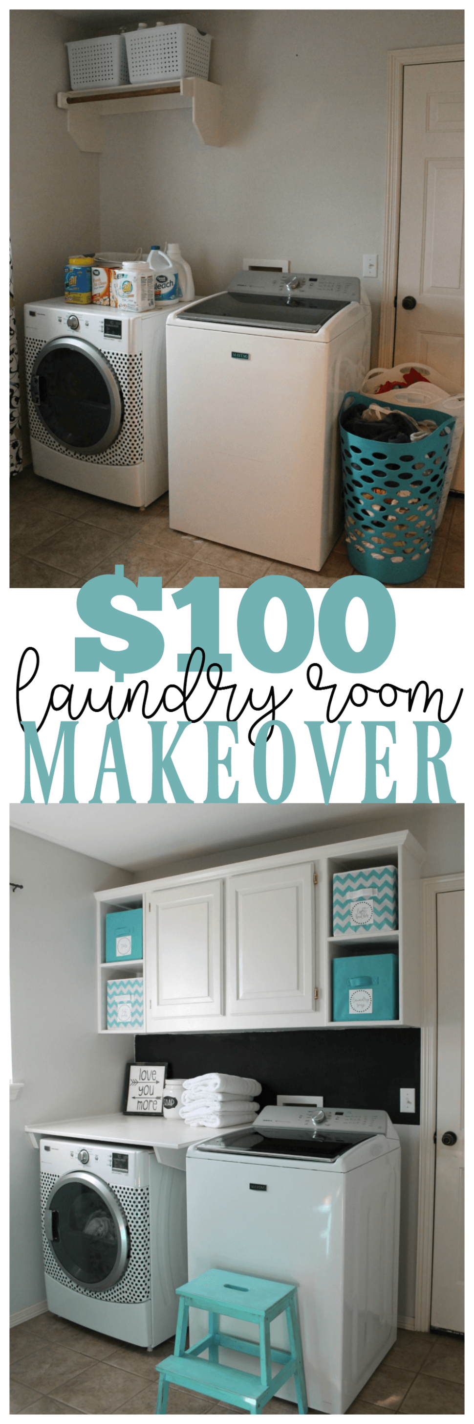 8 Before and After: Budget Friendly Laundry Room Makeover Ideas ..