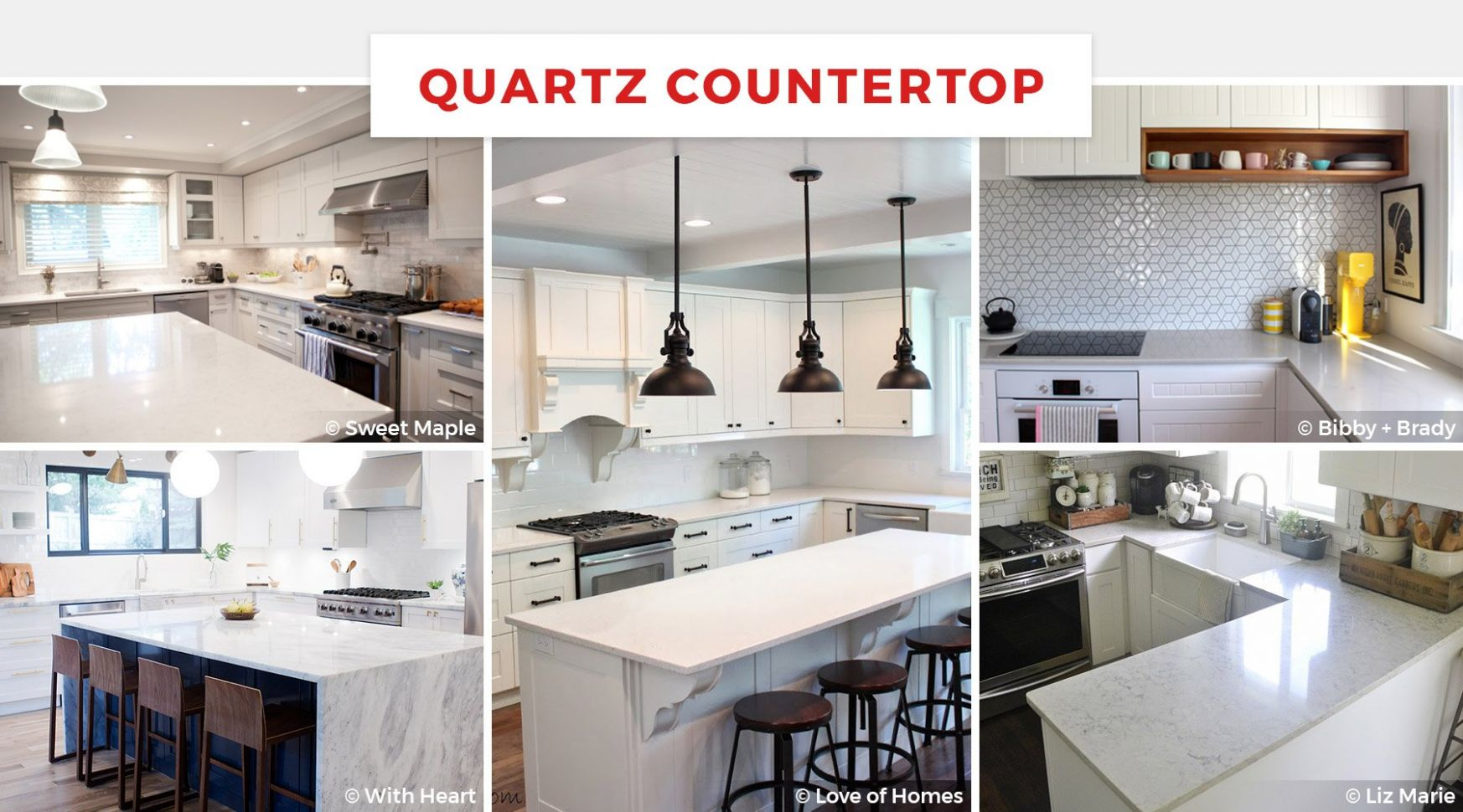 8+ Best Kitchen Countertop Ideas for 8 - kitchen ideas with quartz countertops