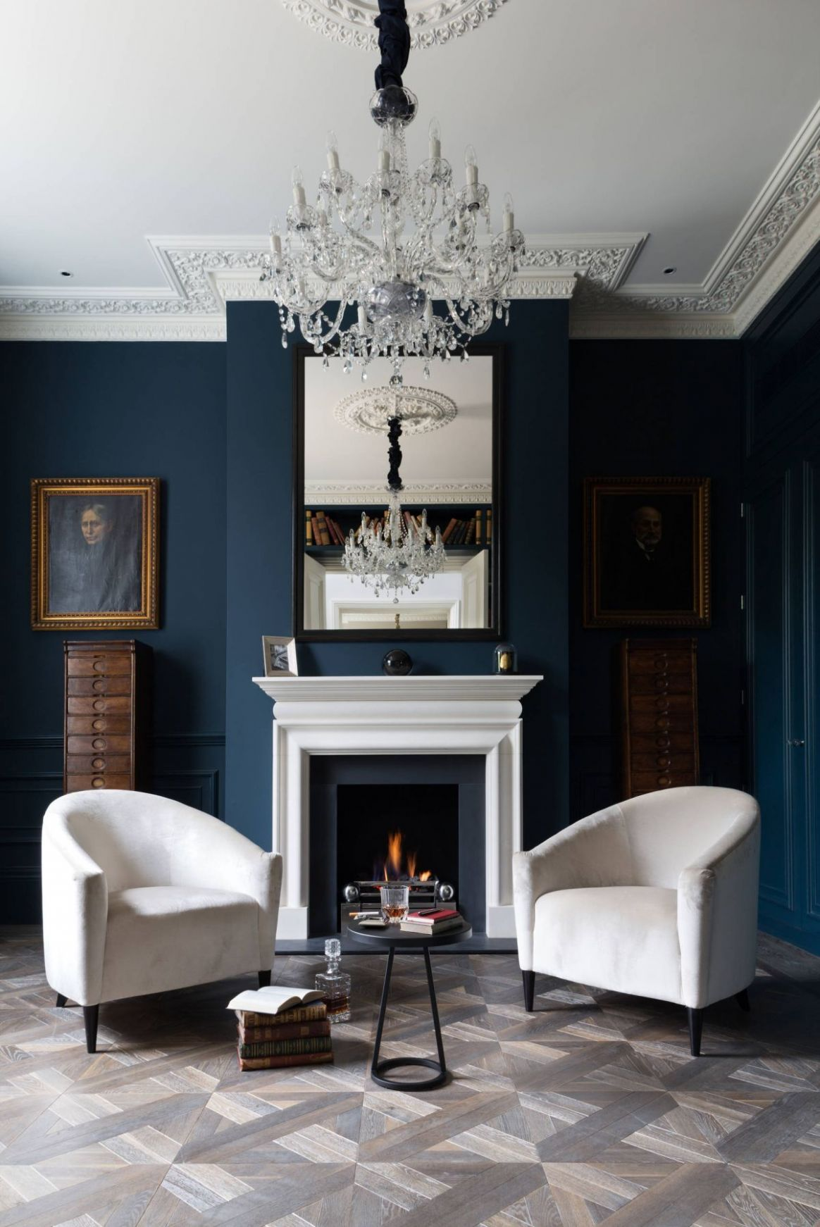 8 Blue Living Rooms Made For Relaxing