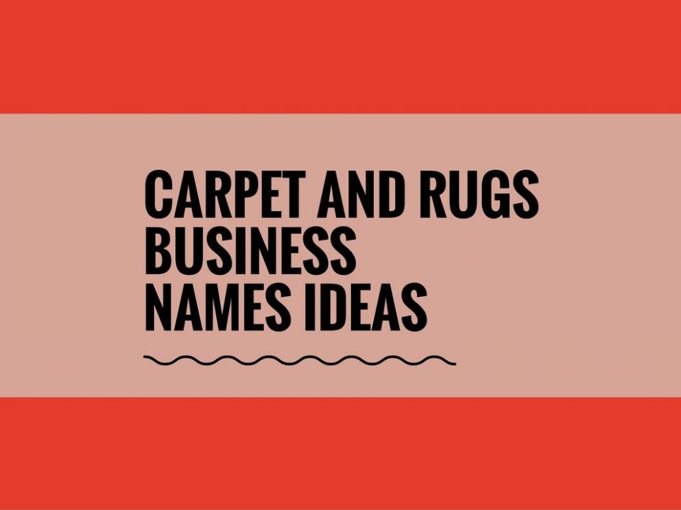 8+ Catchy Carpet and Rugs business Names - theBrandBoy.Com (With ...
