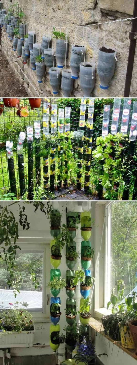 8+ Clever Plastic Bottle Vertical Garden Ideas (With images ..