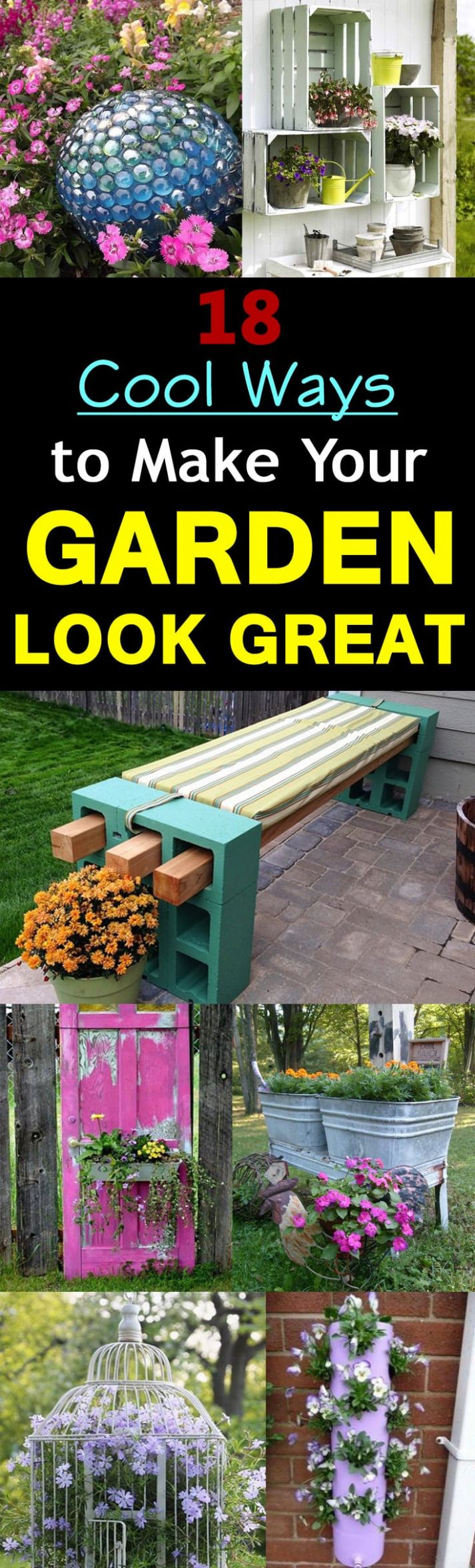 8 Cool DIY Ideas To Make Your Garden Look Great | Balcony Garden Web - garden ideas to make