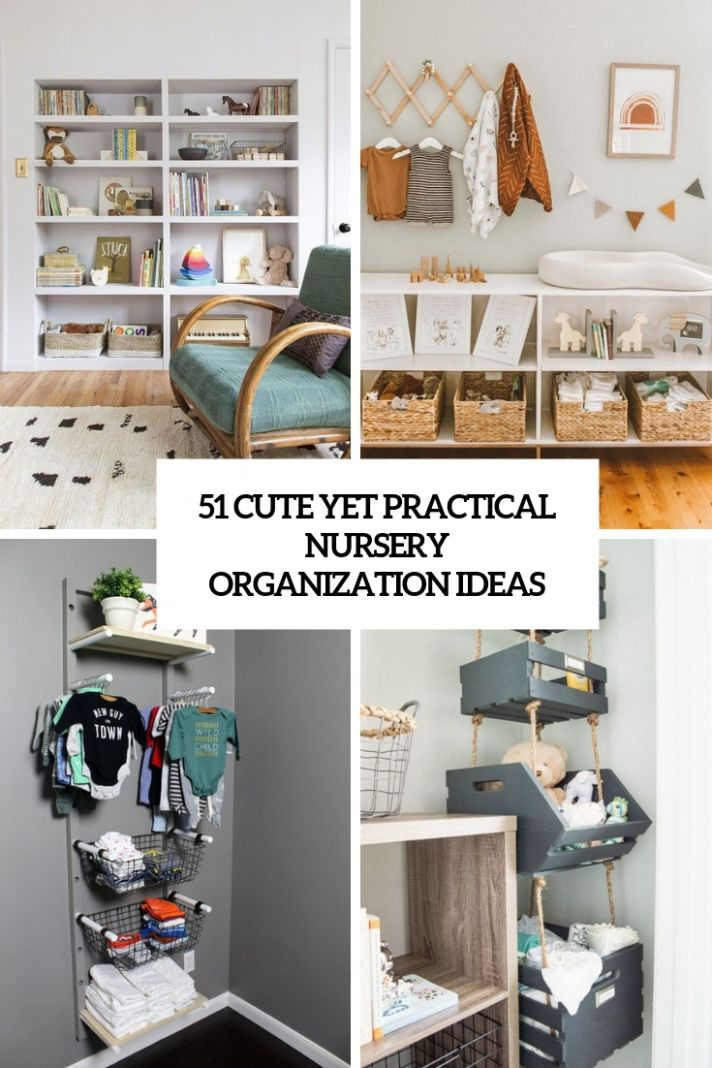 8 Cute Yet Practical Nursery Organization Ideas - DigsDigs - baby room organization