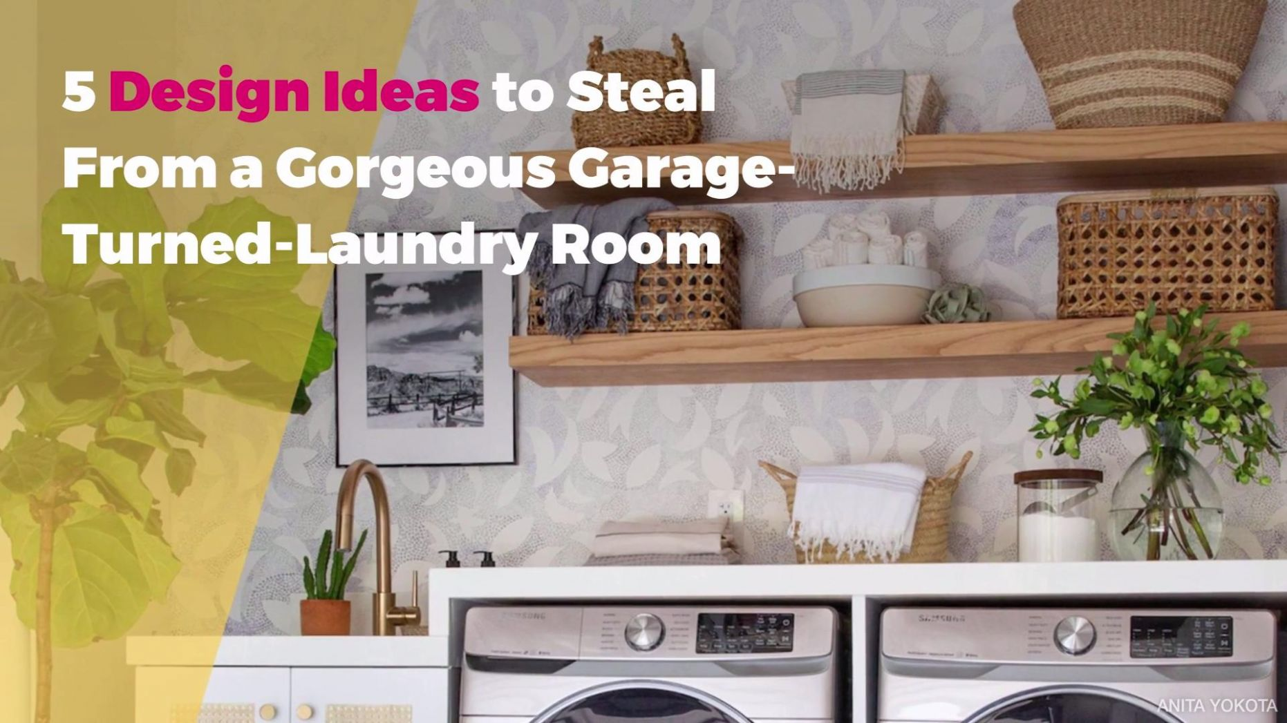 8 Design Ideas to Steal From a Gorgeous Garage-Turned-Laundry Room - laundry room ideas in garage