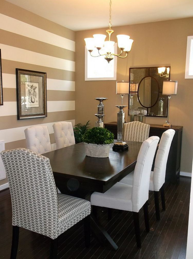 8 Dining Rooms with Snazzy Striped Accent Walls | Dining room ...