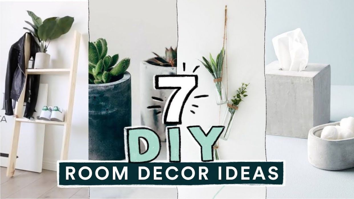 8 DIY EASY ROOM DECOR IDEAS! (Pinterest Inspired) // Lone Fox ...