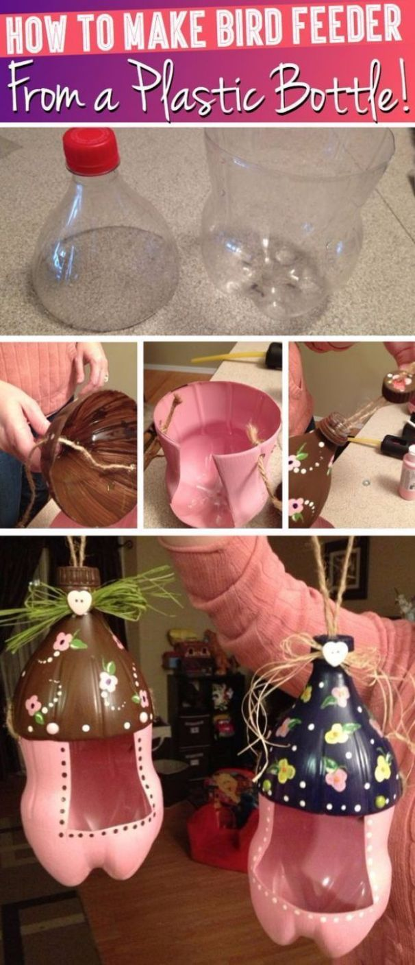 8 DIY Projects Made With Plastic Bottles | Cute diy projects ..