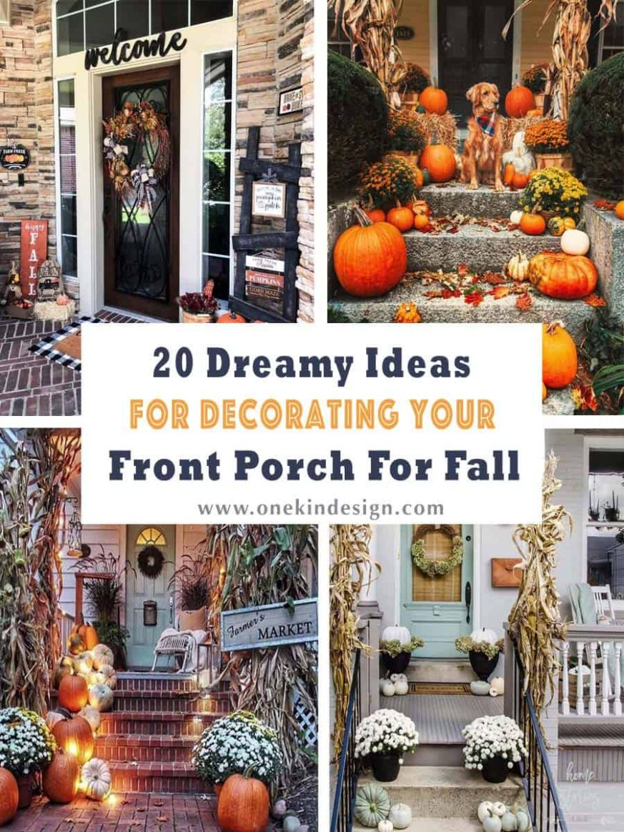 8+ Dreamy Ideas For Decorating Your Front Porch For Fall
