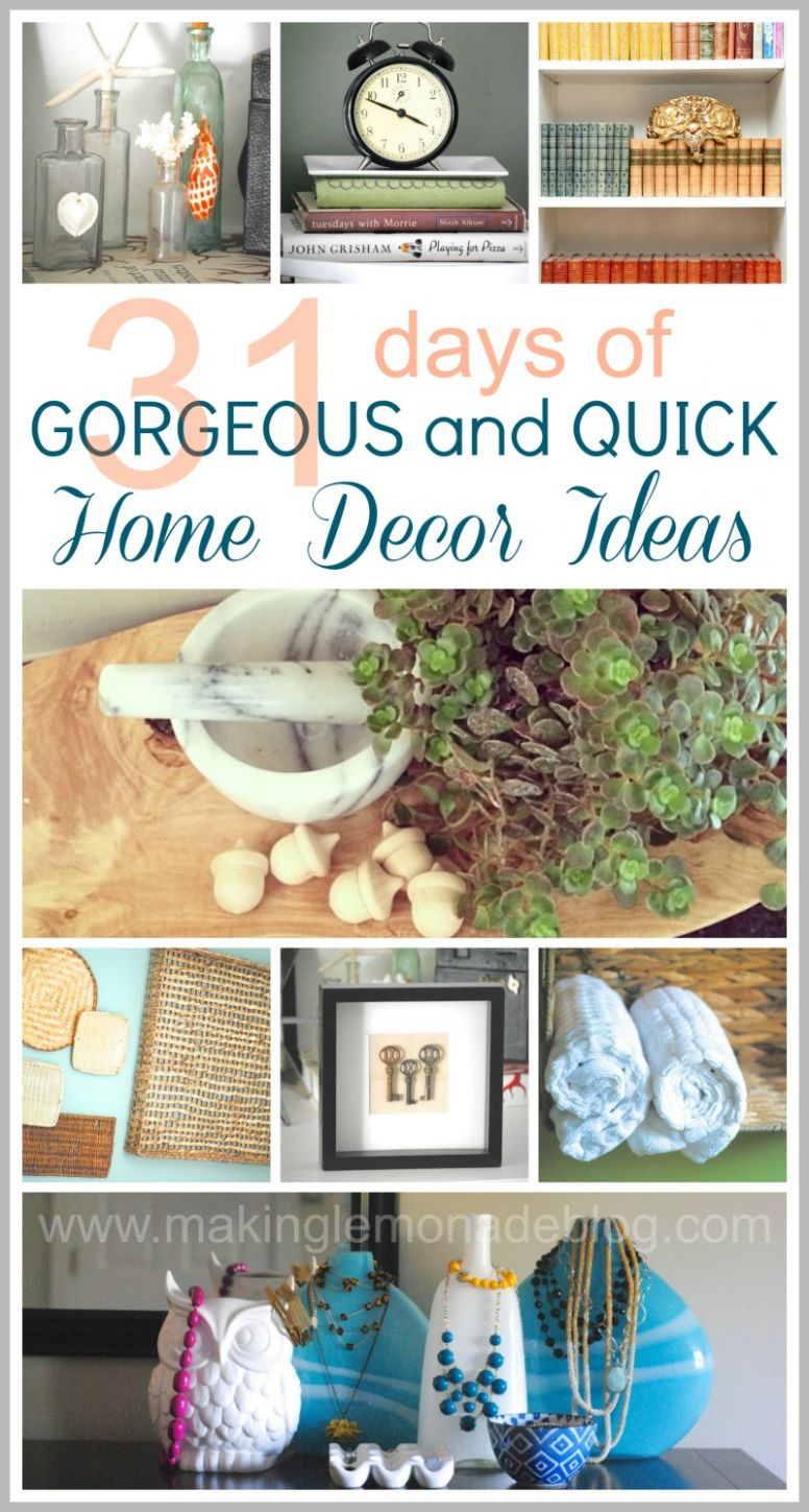 8+ Easy Decorating Ideas WrapUp and Link Party | Making Lemonade