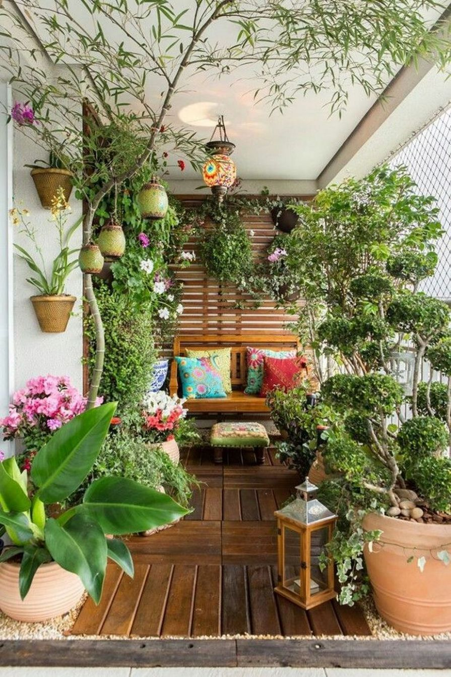 8+ Easy Houseplants for Indoor House Ideas | Small balcony garden ...