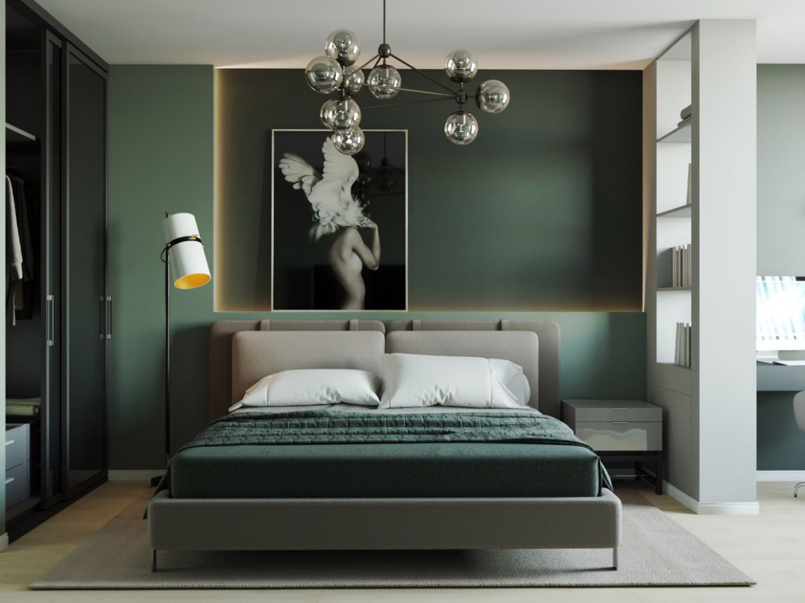 8 Green Bedrooms With Tips And Accessories To Help You Design Yours - bedroom ideas dark green