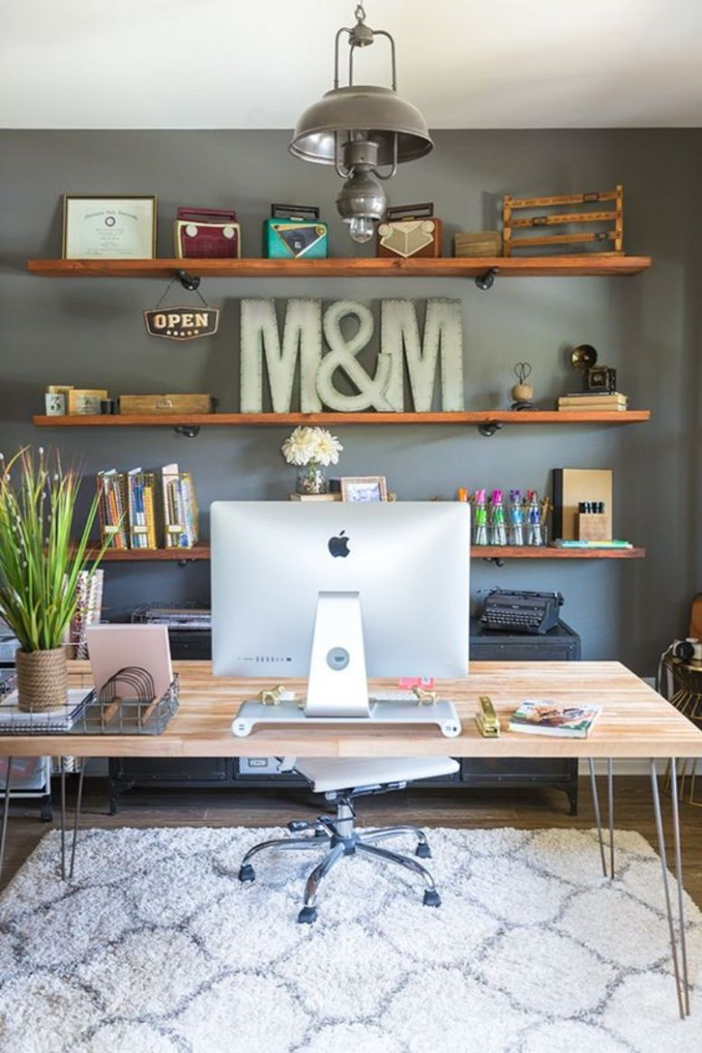 8 Inspirational Home Office Decor Ideas For 819 - eclectic home office ideas