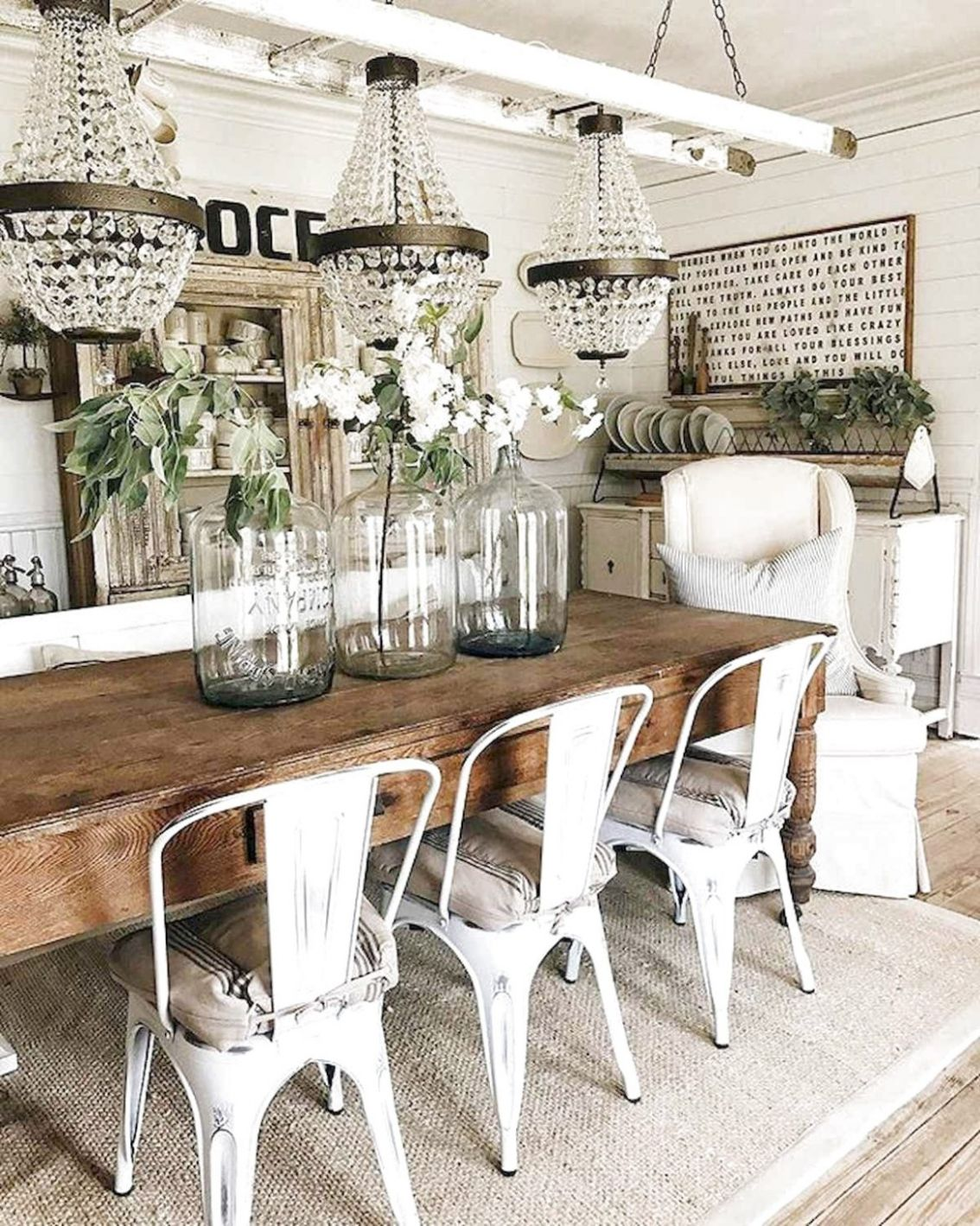 8 Modern Farmhouse Dining Room Table Ideas Decor And Makeover ...