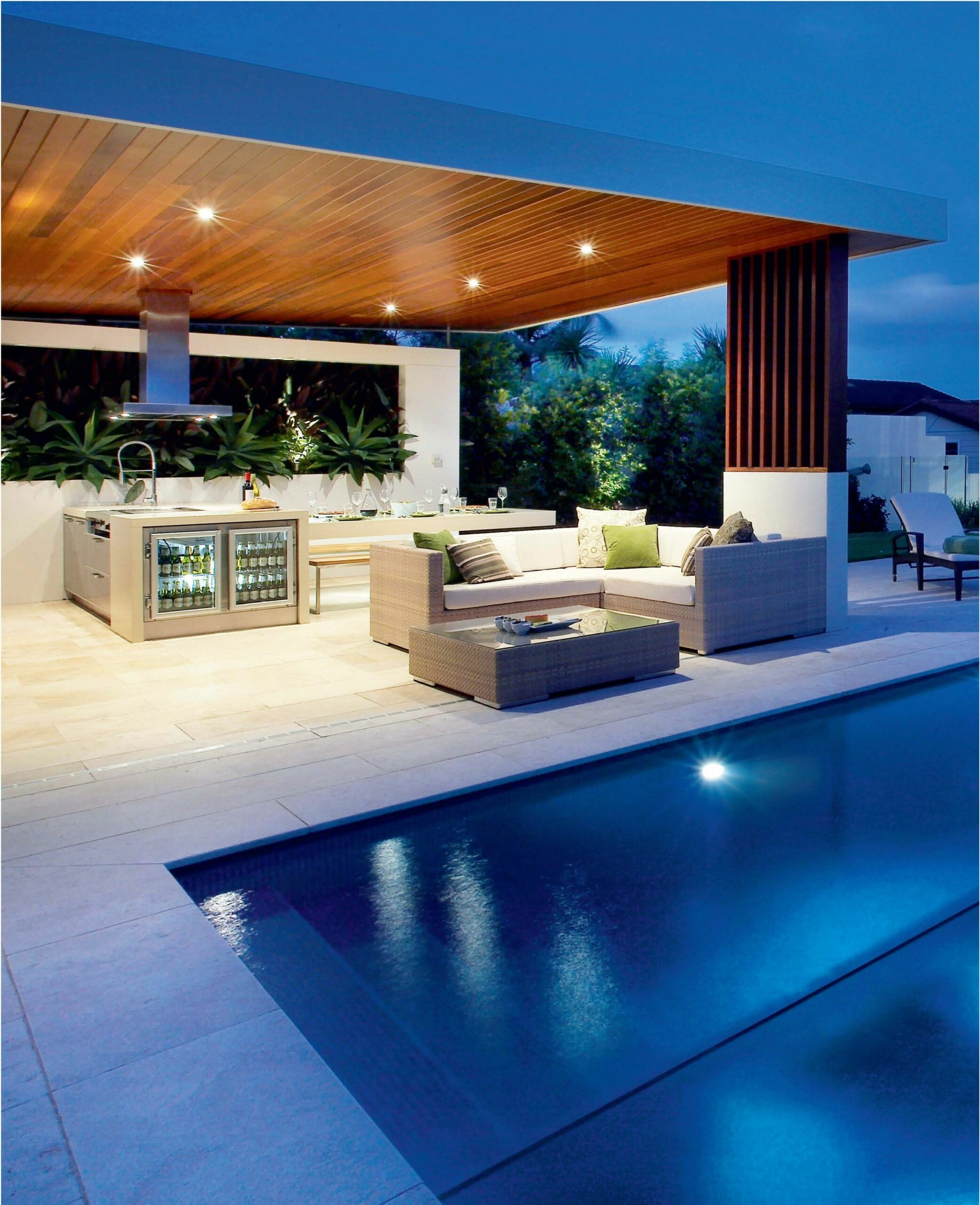 8 Modern Outdoor Design Ideas | Modern outdoor kitchen - outdoor pool kitchen ideas