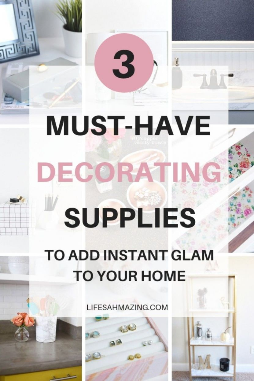 8 Must-have DIY Decorating Supplies for Instant Glam | Decorating ..