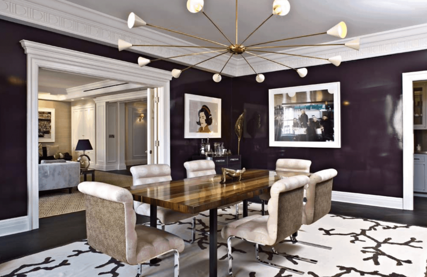 8 Purple Dining Room Ideas (Photos) - modern victorian dining room ideas