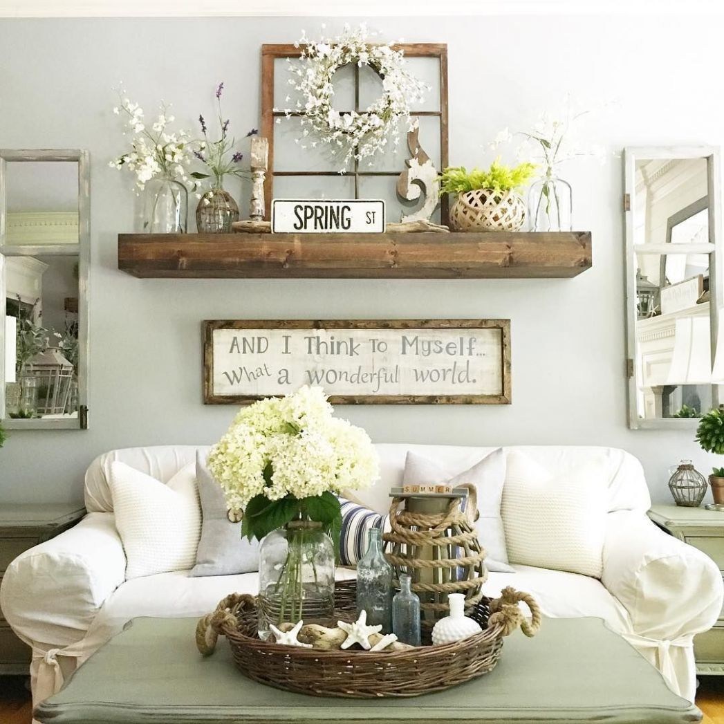 8 Rustic Wall Decor Projects For A Charming Home - wall decor ideas living room