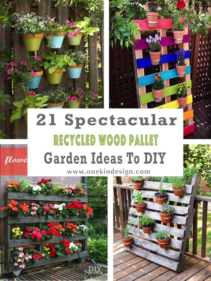 8 Spectacular Recycled Wood Pallet Garden Ideas To DIY - garden ideas with pallets