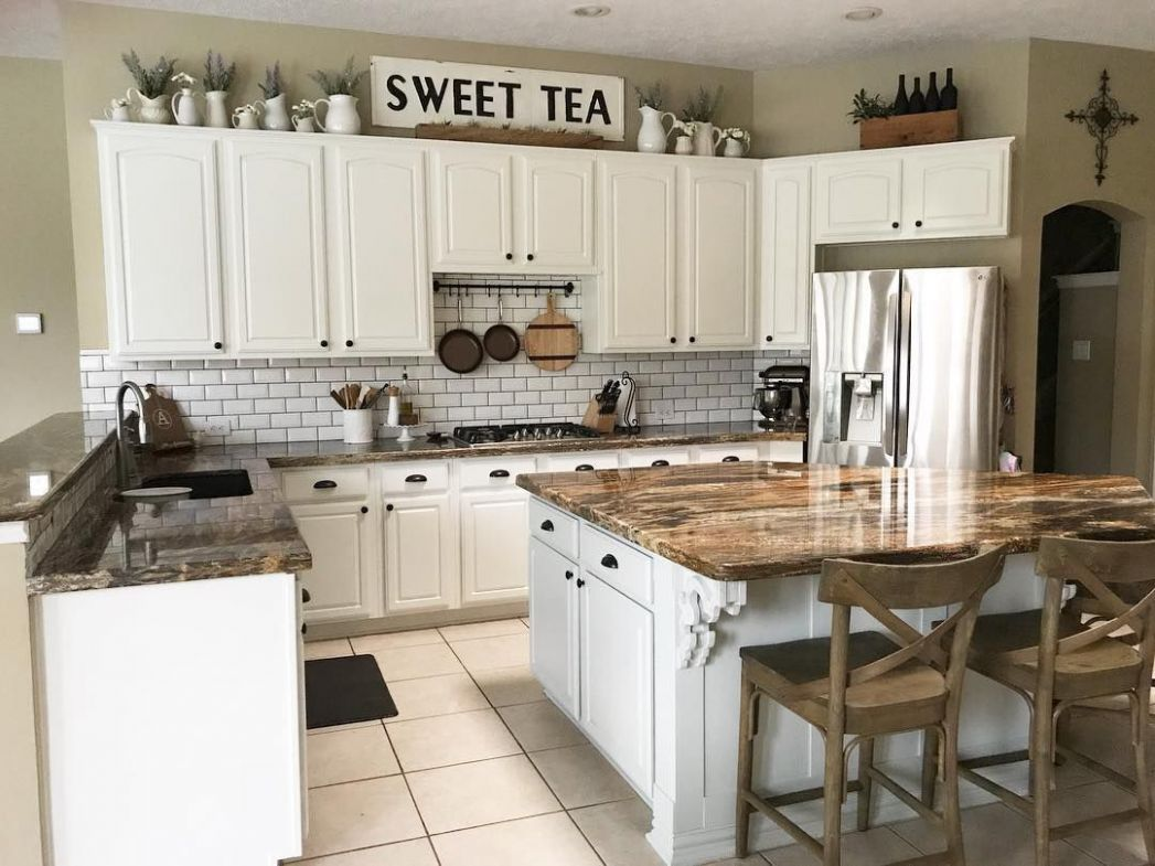8 Ways to Decorate Above Your Kitchen Cabinets - kitchen ideas above cabinets