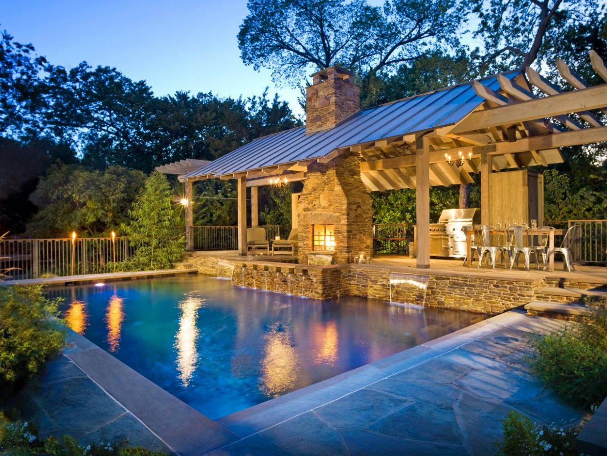 8 Wonders Of Having Outdoor Kitchen Design With Pool % - outdoor pool kitchen ideas