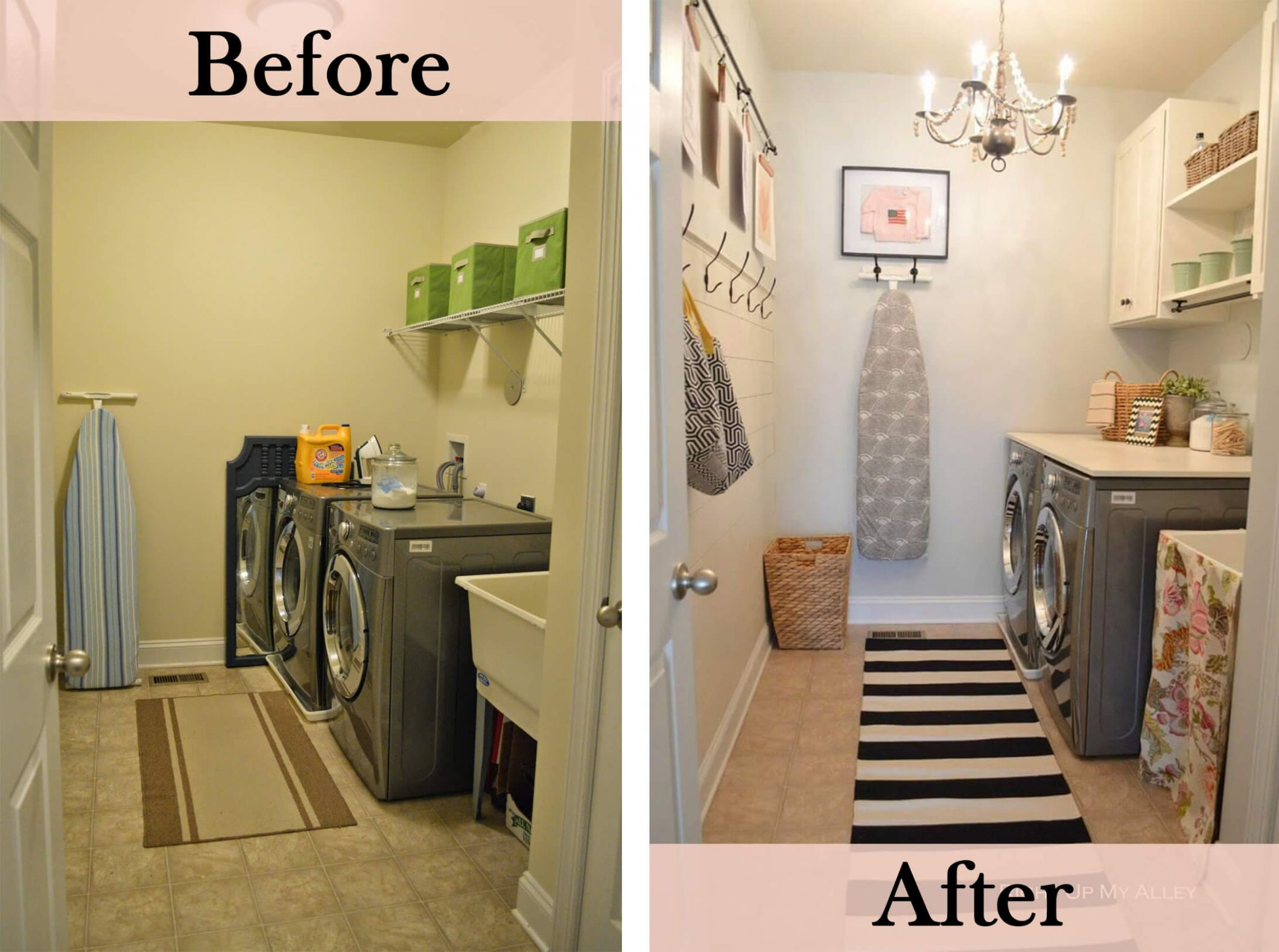 9 Before and After: Budget Friendly Laundry Room Makeover Ideas ...