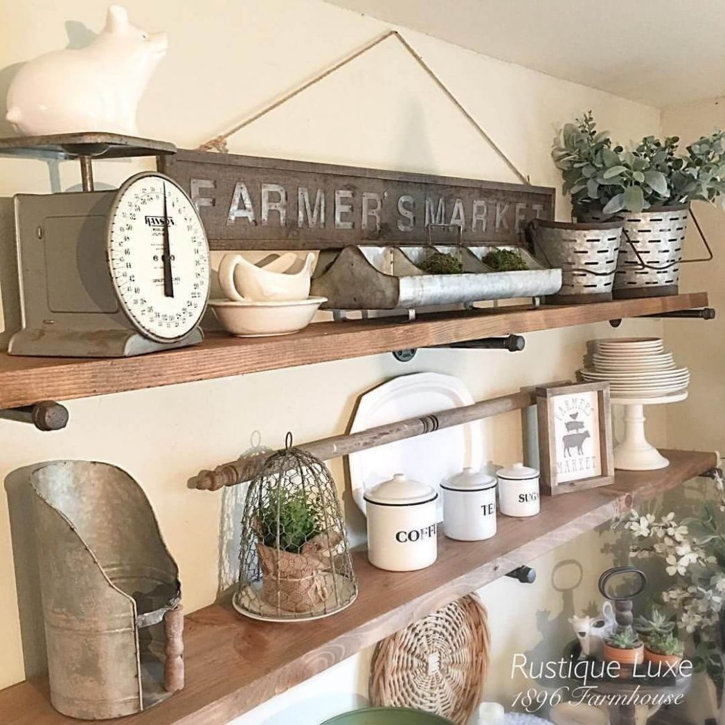 9 Best Farmhouse Shelf Decor Ideas and Designs for 9