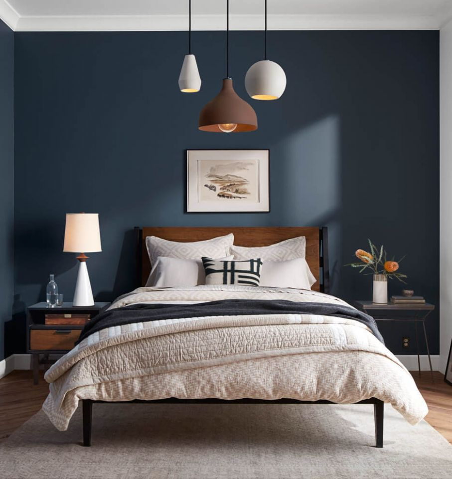 9 Best Navy Blue Bedroom Decor Ideas for a Timeless Makeover in 9 - bedroom ideas navy and white