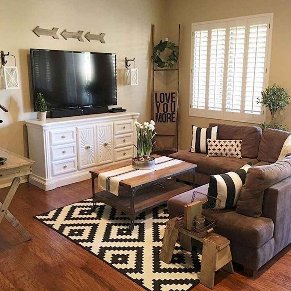 9 Best Rustic Apartment Living Room Decor Ideas and Makeover ...