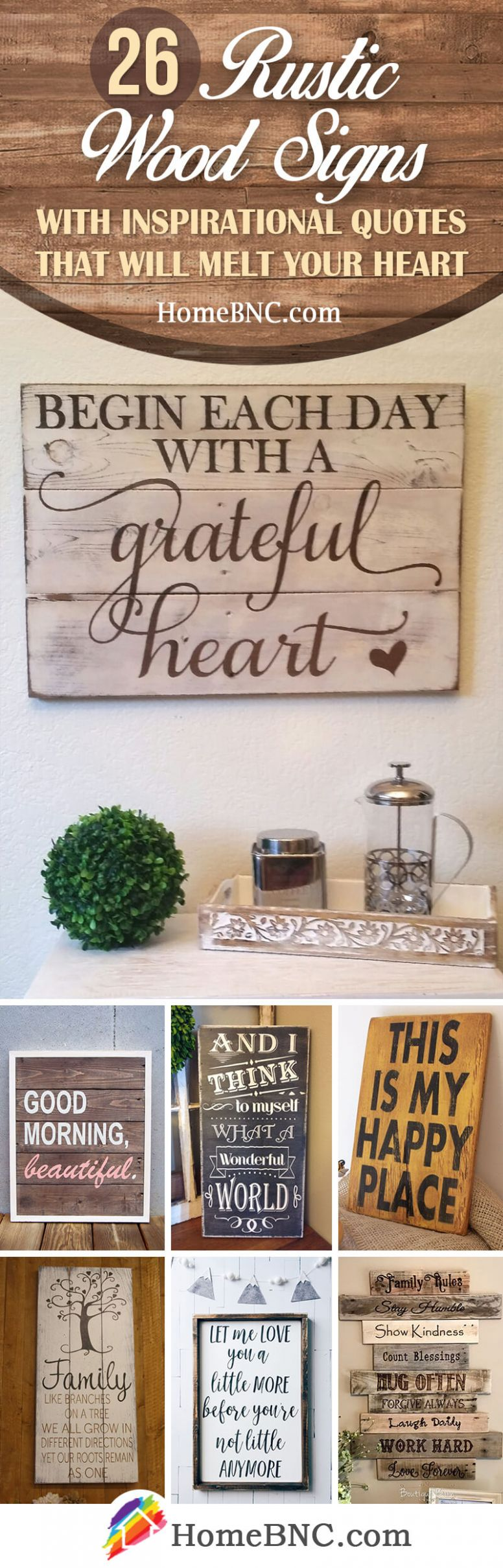 9 Best Rustic Wood Sign Ideas and Designs with Inspirational ..