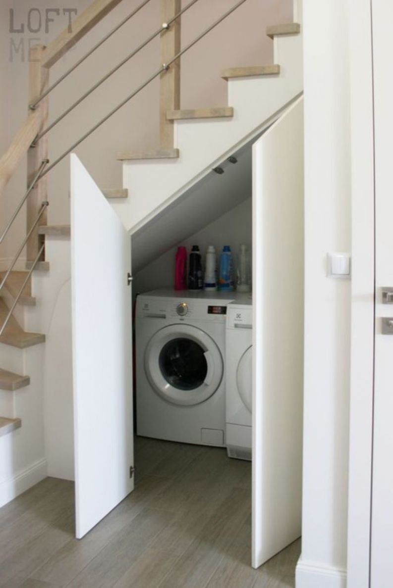 9 Brilliant Laundry Room Ideas That Built Under The Stairs To ...