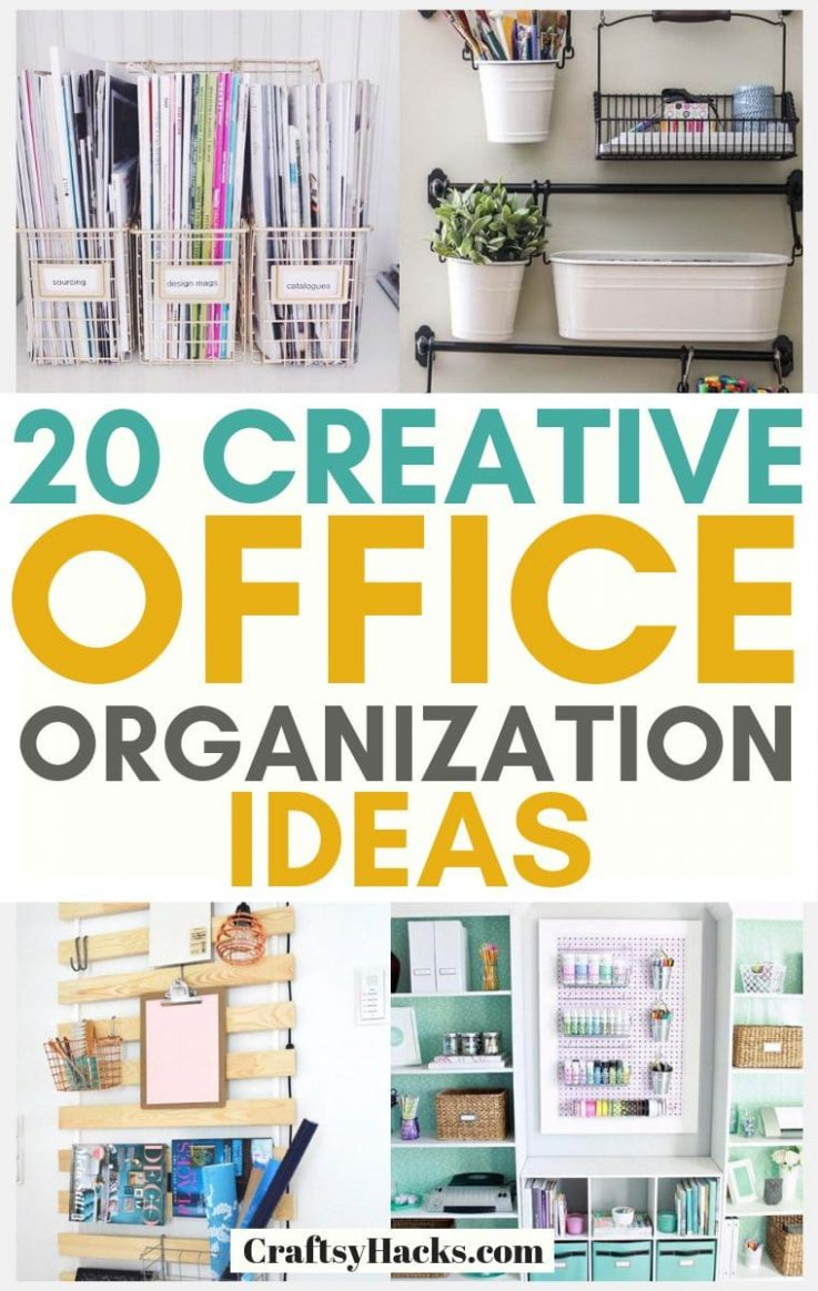 9 Creative Office Organization Ideas - Craftsy Hacks