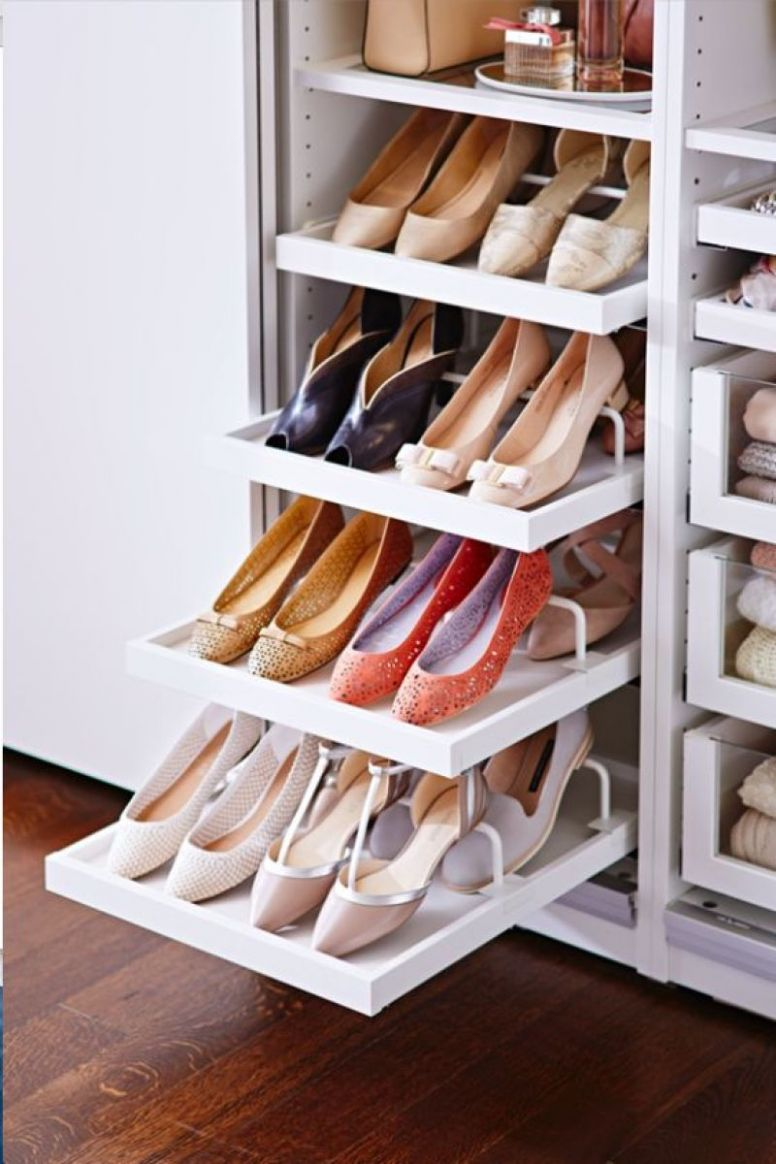 9+ Creative Ways to Organize your Shoes - closet ideas for shoes