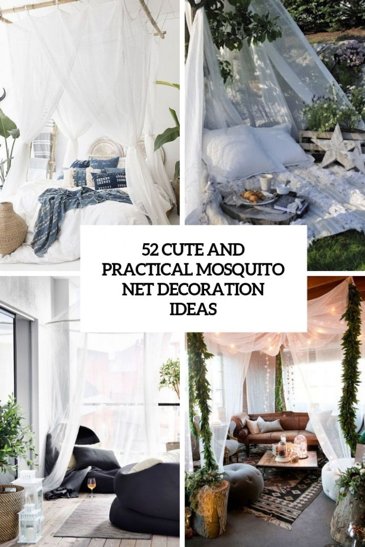9 Cute And Practical Mosquito Net Decoration Ideas - DigsDigs