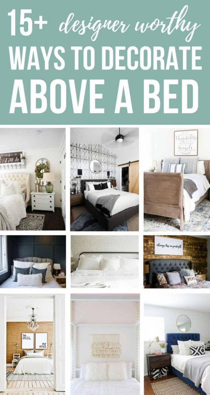 9 Designer Worthy Ideas For Over The Bed Decor   Bedroom wall ..