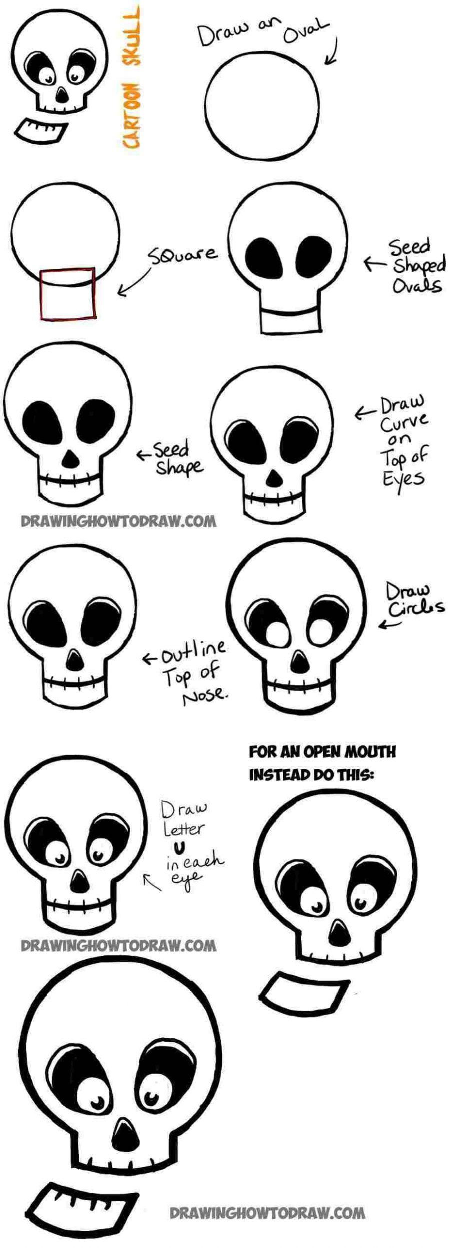 9 Easy Halloween Drawings Step By Step For Kids – EntertainmentMesh - halloween ideas to draw