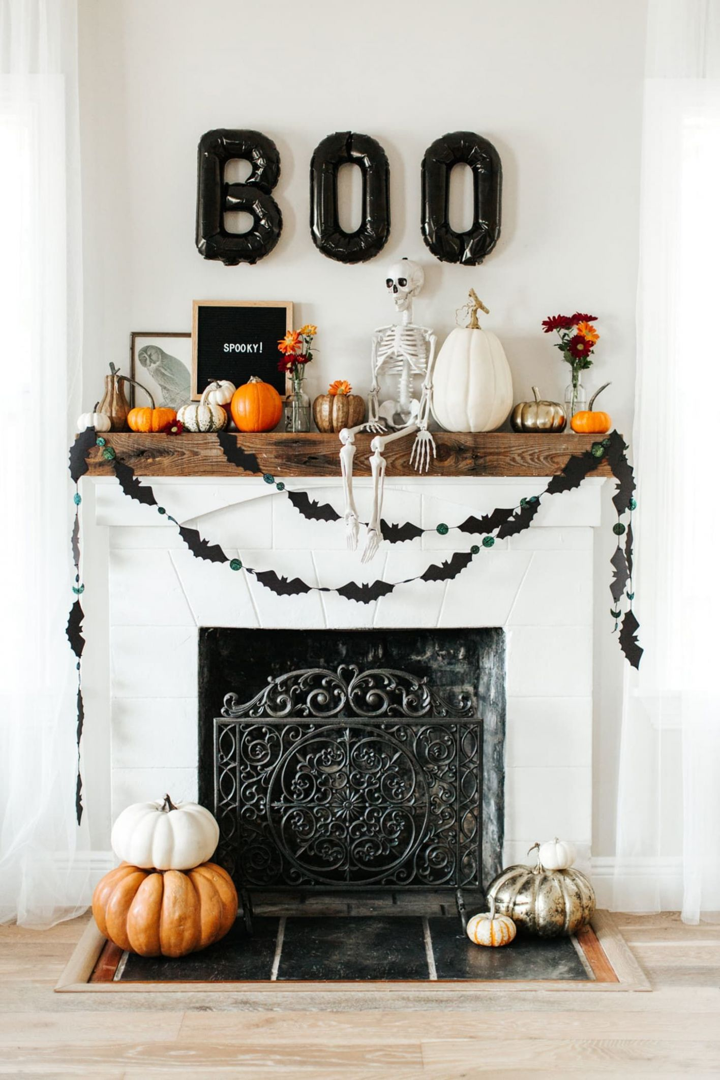9 Fall Decor Ideas | Halloween mantel decor, Halloween mantel ...