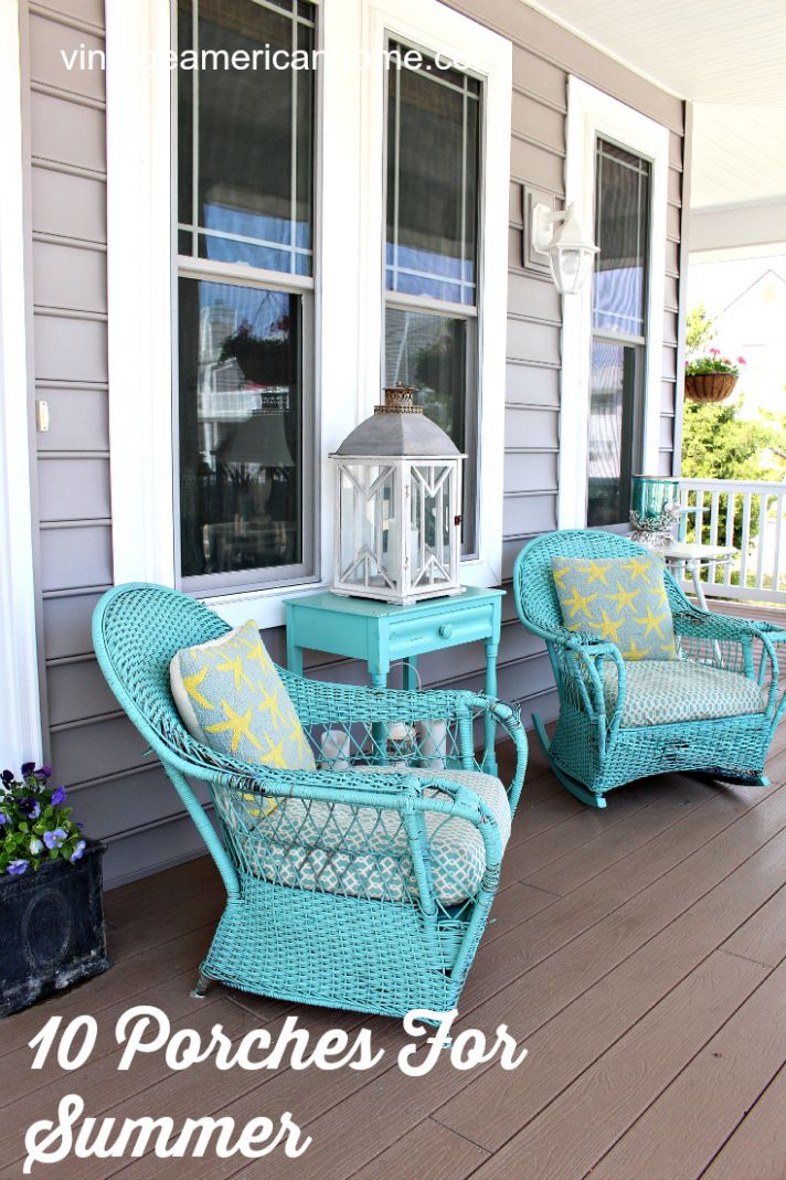 9 Front Porch Decorating Ideas - Vintage American Home