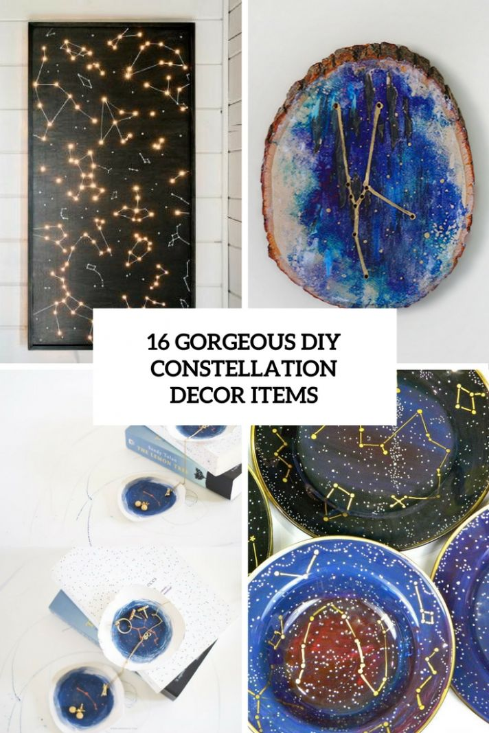 9 Gorgeous DIY Constellation Home Decor Items - Shelterness