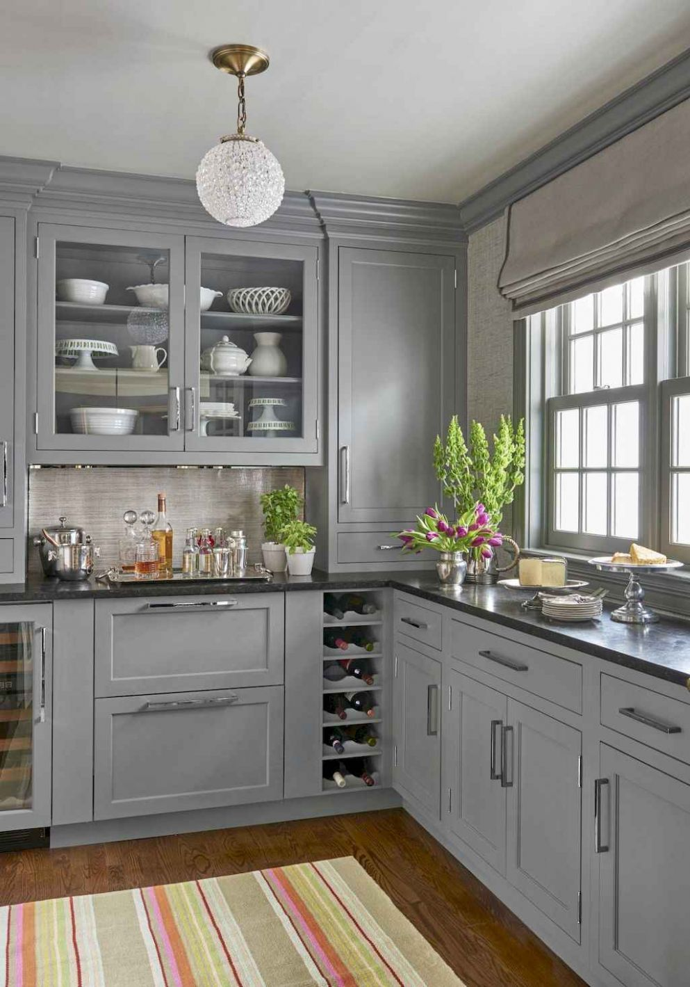 9 Gray Kitchen Cabinet Makeover Design Ideas - DoMakeover.com