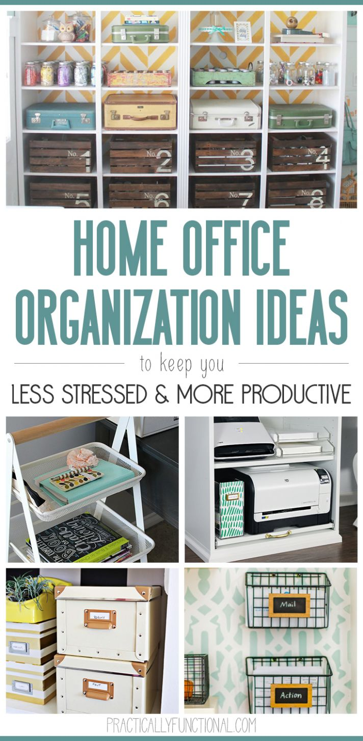 9 Home Office Organization Ideas - Quick Tips To An Organized ..