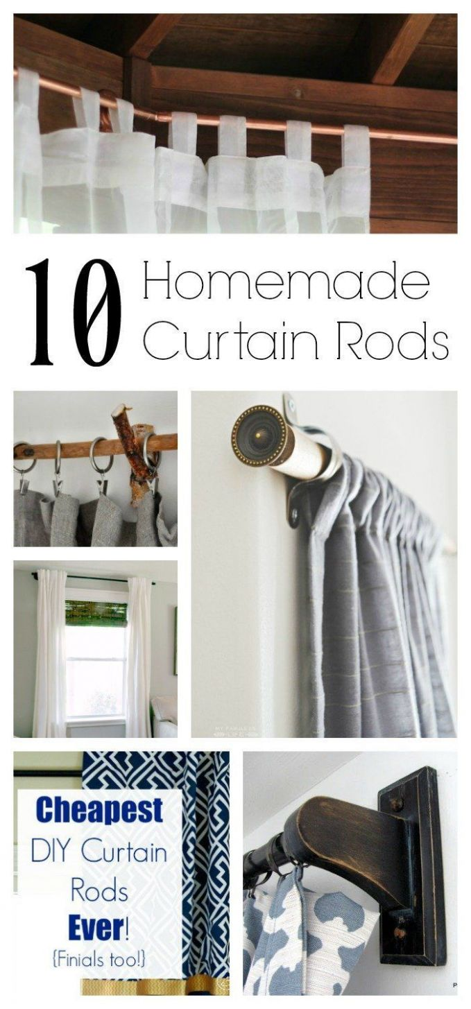 9 Homemade Curtain Rods You Can Make! (With images) | Diy curtain ..