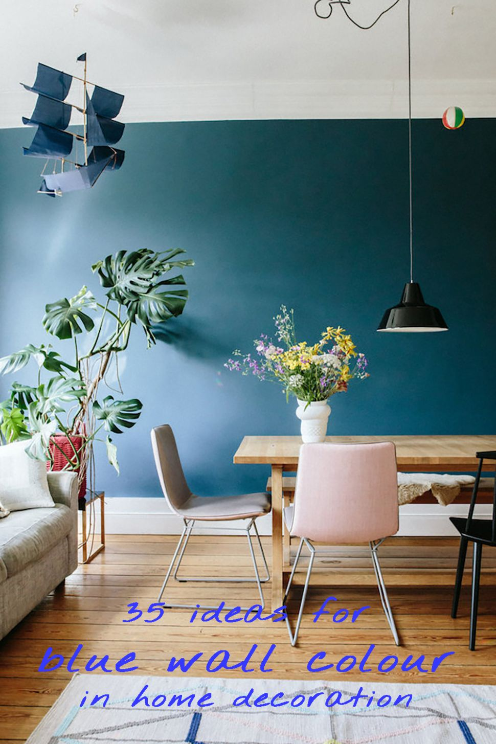 9 ideas for blue wall colour in home decoration - Aliz's Wonderland