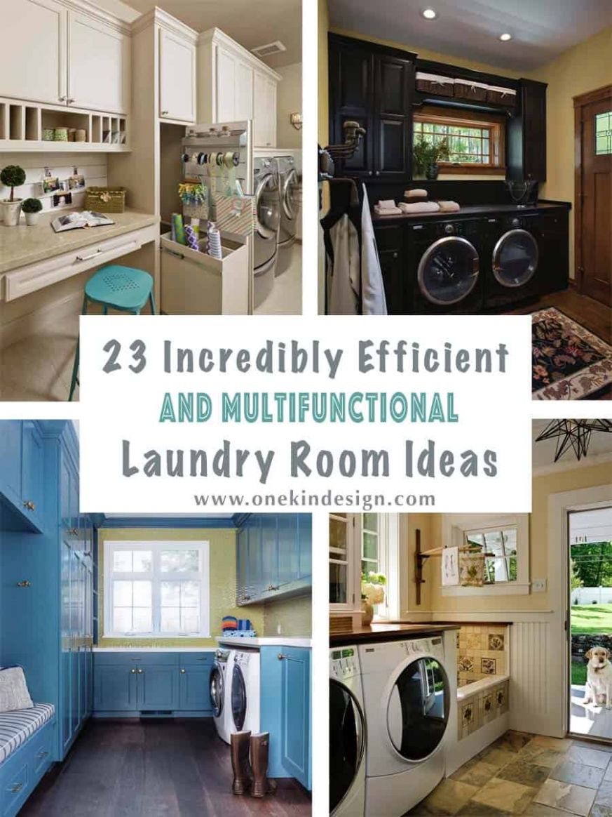 9 Incredibly Efficient And Multifunctional Laundry Room Ideas - laundry room trim ideas