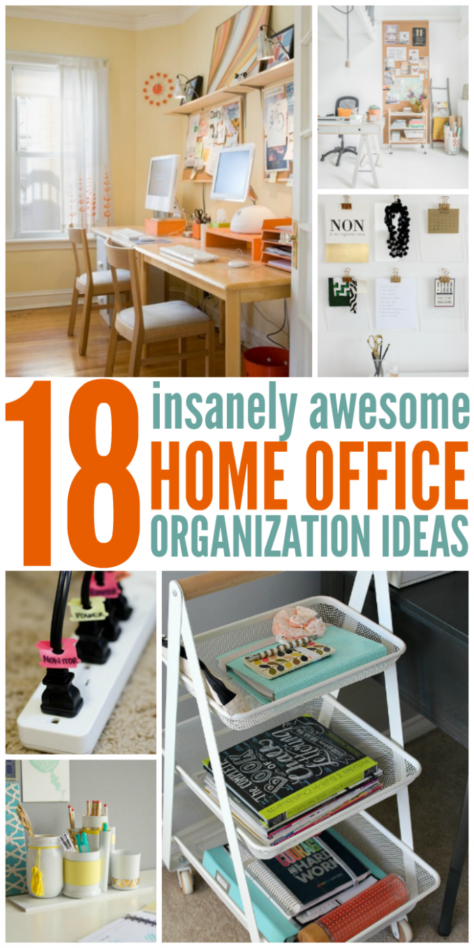 9 Insanely Awesome Home Office Organization Ideas (With images ..