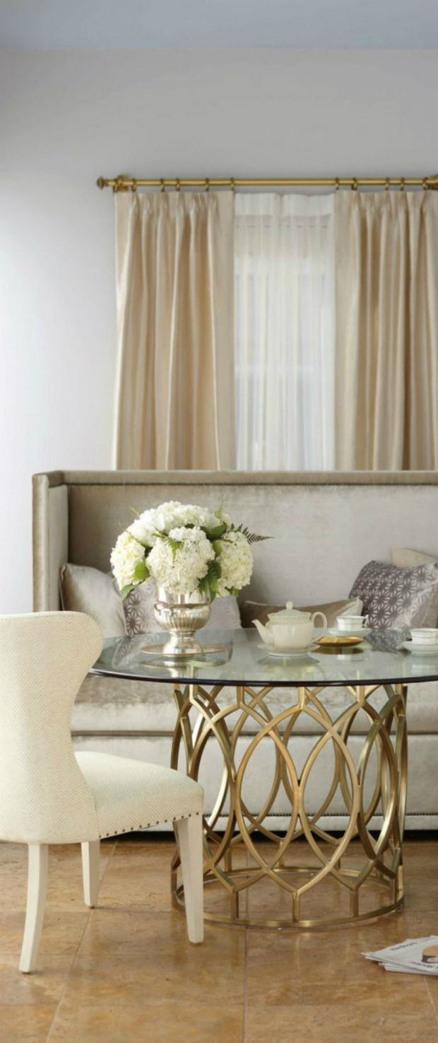9 Interesting Combination of Gold and Silver in Furniture - dining room ideas gold