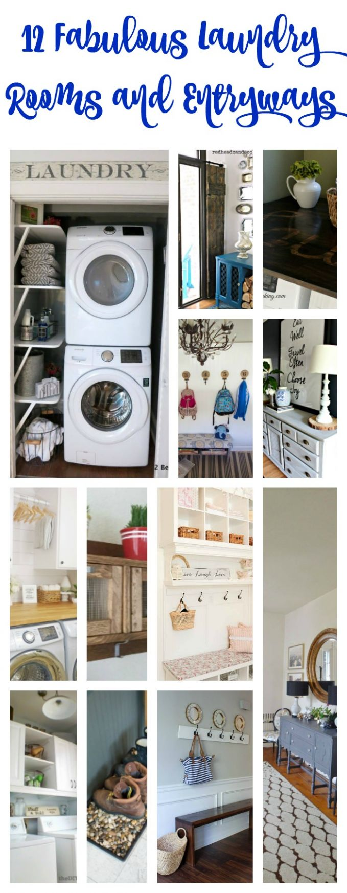 9 Laundry Room and Entry Ideas - DIY Housewives Series - 9 Bees ..
